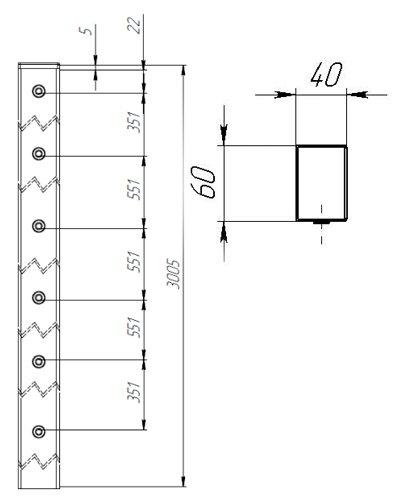 Заборный столб 3 метра