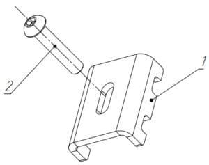 Набор крепления панельного ограждения ТЕХНА Классик-1