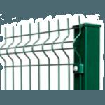 Профилированный металлический столб для забора из секций