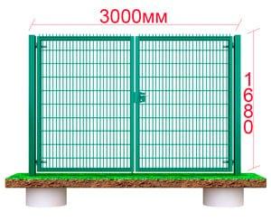 металлические ворота 1.7 метра на 3м