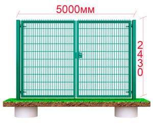 Большие металлические ворота