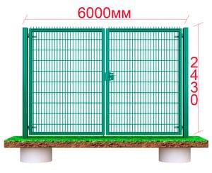 самые большие распашные металлические ворота