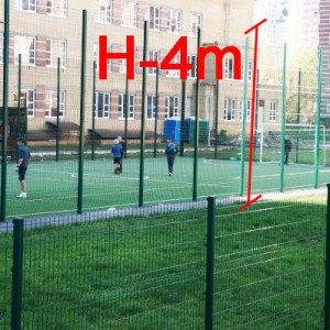 """Ограждение спортивной площадки H-4м d 4 - Фото № """"1"""""""