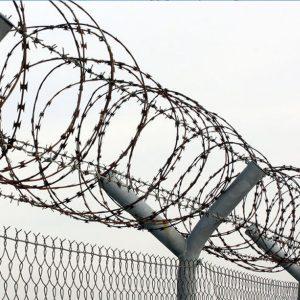 """Спиральный барьер безопасности «Егоза», d-450mm, 3 скобы соединения - Фото № """"1"""""""