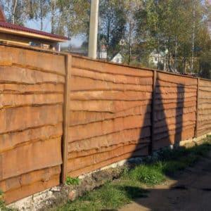 """Деревянный забор Щит - Фото № """"1"""""""