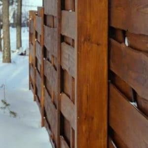 """Деревянный забор Щит - Фото № """"8"""""""