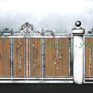"""Кованые ворота откатные №1 - Фото № """"1"""""""