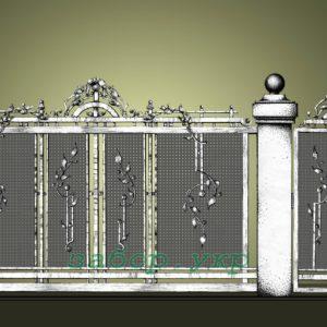 """Кованые ворота откатные №2 - Фото № """"1"""""""