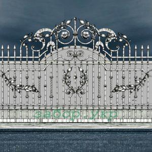"""Кованые ворота откатные №10 - Фото № """"1"""""""