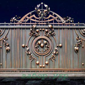 """Кованые ворота откатные №11 - Фото № """"1"""""""