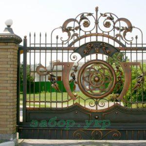 """Кованые ворота откатные №19 - Фото № """"1"""""""