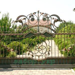 """Кованые ворота откатные №20 - Фото № """"1"""""""
