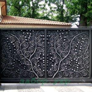"""Кованые ворота откатные №28 - Фото № """"1"""""""