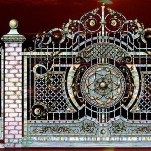 """Кованые ворота откатные №29 - Фото № """"1"""""""
