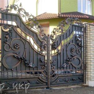 """Кованая калитка №57-РЗ - Фото № """"1"""""""