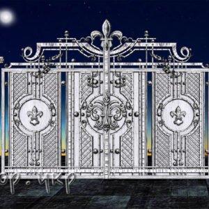 """Кованые ворота распашные №58-РЗ - Фото № """"1"""""""
