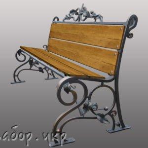 """Кованая скамейка №2 - Фото № """"1"""""""