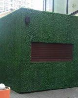 обшивка зеленой травой