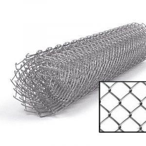 "Сетка рабица (оцинковка) яч. 50 х 50 мм / Ø 2,50 мм / h = 1,50 м - Фото № ""1"""